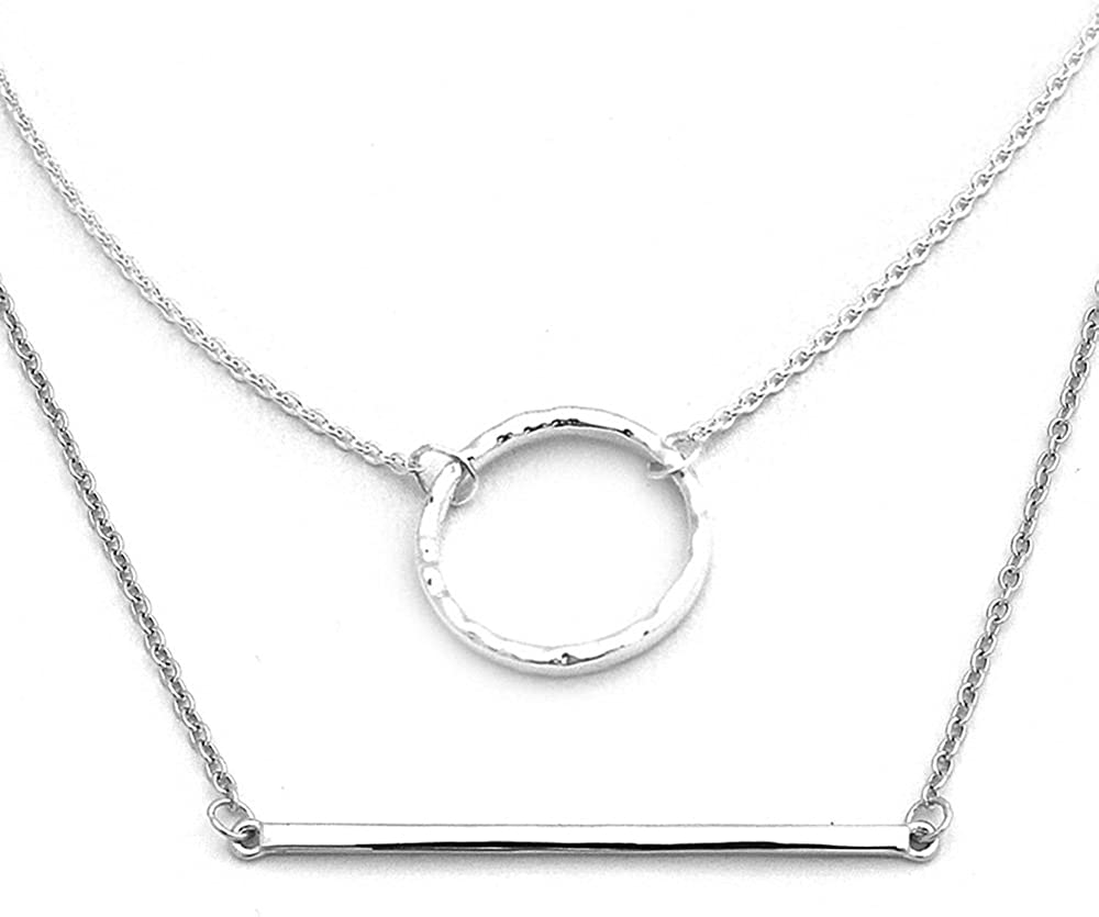 2 Extension CloseoutWarehouse Rhodium Plated Sterling Silver Alternating Religious Charms Necklace 16