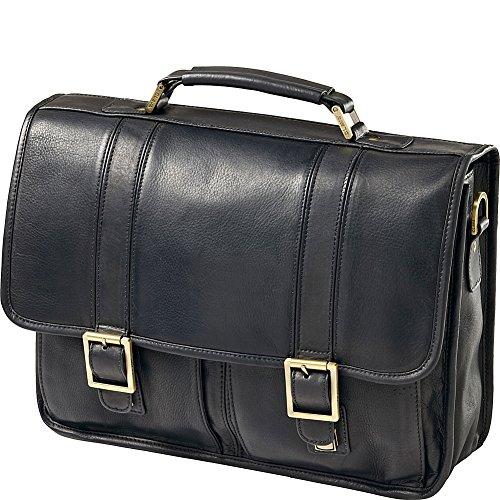 (Clava Notebook Leather Briefcase - Leather - Vachetta Black - Vachetta Black)