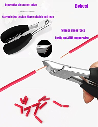 Nail Art Equipment Toe pruner Thick and hard nail special nail clippers stainless steel rubber dead skin pliers / horn double spring dead pliers / nail groove hard thick nails special for thick or har
