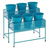 buy Plant Stand. Combine Best Heavy Duty 2 Tier Holder w/ Decorative Flower Pot, Planter To Decorate & Organize Garden, Patio, Deck, Home & Poolside. Great For Outdoor & Indoor Decor & Storage (Blue) now, new 2018-2017 bestseller, review and Photo, best price $150.00