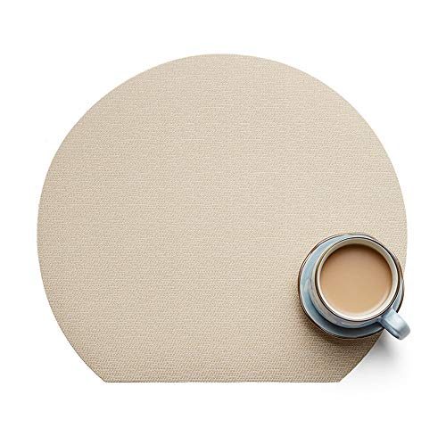 - SHANDG Placemat Table Mats Half Moon Shape Non-Slip Heat Resistant Kitchen Dining Table