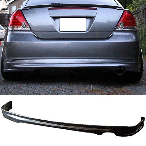 Rear Bumper Lip Fits 2005-2010 Scion TC | Sports Style PU Black Rear Lip Spoiler Splitter by IKON MOTORSPORTS