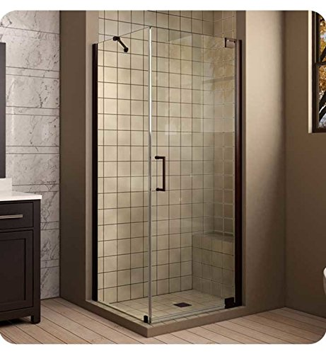 DreamLine Elegance 32 in. W x 30 in. D x 72 in. H Frameless Pivot Shower Enclosure in Brushed Nickel, ()
