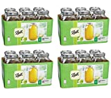 Ball Wide Mouth Half Gallon 64 Oz Jars with Lids and Bands Set of 6 (Pack of 4) Brand New and Fast Shipping