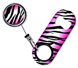 zebra beer bottle opener - BarConic Mini Bottle Opener with Retractable Reel - Pink Zebra