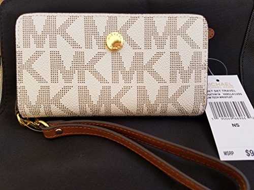 Michael Kors Jet Set Travel Slim Tech Wristlet, Vanilla by Michael Kors