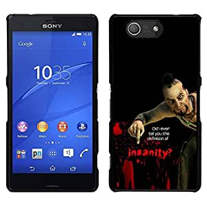 MOBMART Slim Sleek Hard Back Case Cover Armor Shell FOR Sony Xperia Z3 Compact - Psycho B0Rderlands Tf - Insanity