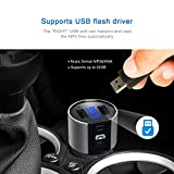 Bluetooth FM Transmitter for Car, Wireless Bluetooth FM Radio Adapter Car Kit with Hands-Free Calling and 2 Ports USB Charger 5V/2.4A&1A