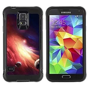 LASTONE PHONE CASE / Suave Silicona Caso Carcasa de Caucho Funda para Samsung Galaxy S5 SM-G900 / Galaxy Fire Planets Art Red Dwarf Star Dust