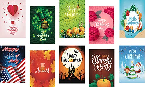 - BeautifulLife Seasonal Garden Flags Set of 10 Bright and Shine - 10 Pack 12x18 inch Small Holiday Yard Flags - Double Sided Design for All Seasons and Holidays - Premium Quality Durable Material