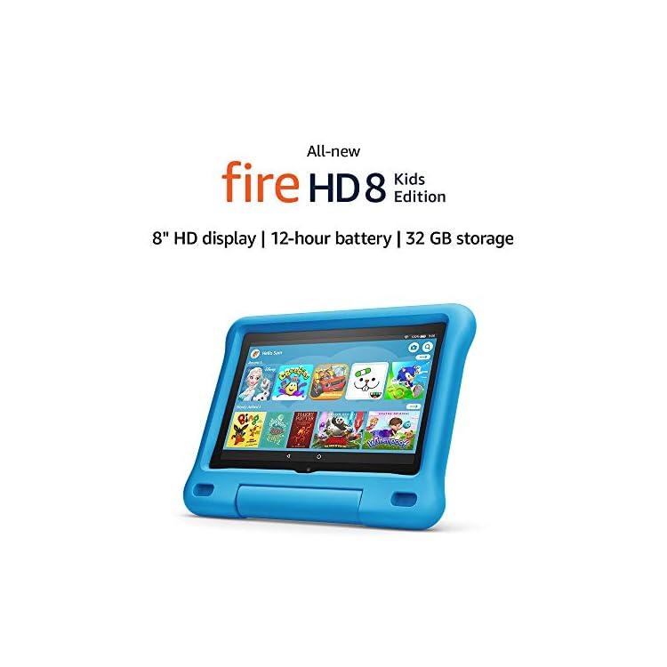 Fire HD 8 Kids Edition tablet | 8″ HD display, 32 GB, Blue Kid-Proof Case
