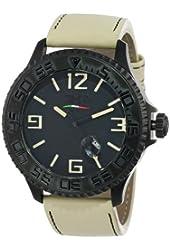 3 H Men's BH04 Black Hole Luminous Automatic Black PVD Date Interchangable Watch