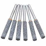 6pcs/set Chainsaw Sharpener Burr Grinder Chain Saw Grinding Stone Saw Chain File 3/16'' 4.8mm Garden Tools
