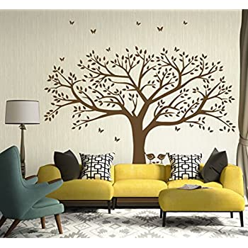 Amazon.com: Family Tree Wall Decal Butterflies and Birds Wall Decal ...