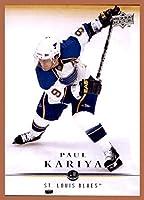2008-09 Upper Deck #29 Paul Kariya ST. LOUIS BLUES