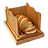 Bamboo Bread Slicer for Homemade Bread Loaf – Wooden Bread Cutting Board