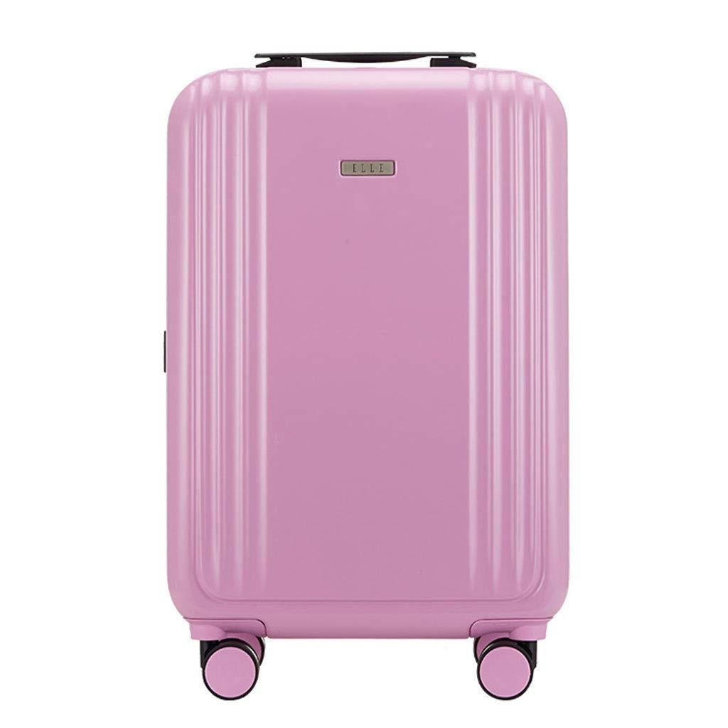 FRF トロリーケース- 男性と女性20インチ搭乗スーツケース、ユニバーサルホイールビジネスパスワードボックストロリーケース24/26インチ (色 : ピンク, サイズ さいず : 20in) B07QP2VR12 ピンク 20in