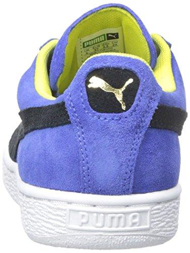 Puma Women's Suede Classic Trainers, Black, 10 M US Dazzling Blue/Black