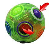 FCBB Fidget Ball,Spherical Magic Cube Rainbow Ball Cube Puzzle Brain Teasers Fidget Educational Toy (Green)