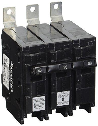 Siemens B380 80-Amp Three Pole 240-Volt 10KAIC Bolt in Breaker (Siemens 80 Amp Breaker)