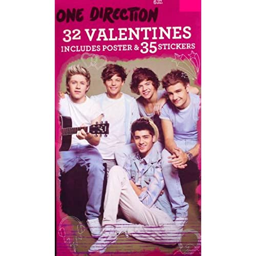 One Direction Valentines Includes 32 Valentines, Poster and 35 Stickers Sales