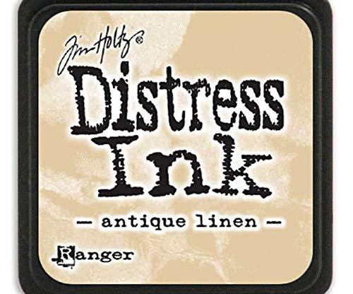 (Distress Ink Mini Antique Linen, Ranger, 3x3cm Pads, Ink, Scrapbooking Paper)