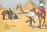 "Wall Calendar 2018 [12 pages 8""x11""] Egypt Tourism Funny Travel by Lance Thakeray Vintage Cartoons"