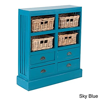 East At Main 's Ocoee Mahogany Sideboard Sky Blue - Cleaning Instructions: Clean With A Soft Dry Cloth Material: Mahogany Shape: Rectangle - sideboards-buffets, kitchen-dining-room-furniture, kitchen-dining-room - 51fIlAzu14L. SS400  -