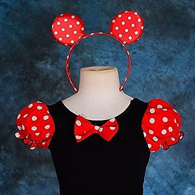 Dressy Daisy Girls' Polka Dots Halloween Christmas Fancy Dress Dance Costume w/Headband: Clothing