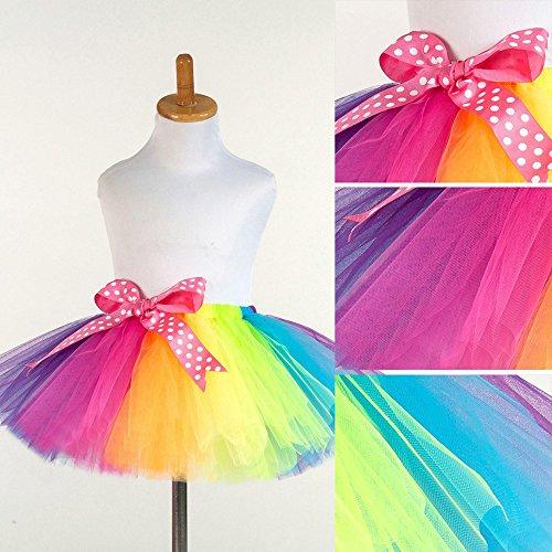 (WOCACHI Toddler Baby Girls Skirts, Children Girls Tutu Tulle Party Dance Ballet Kids Rainbow Costume Skirt Infant Bodysuits Rompers Clothing Sets Christening Short Long Sleeve Organic)