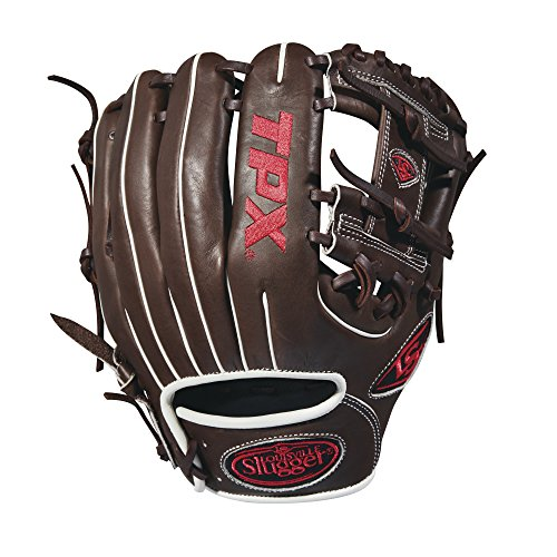 Louisville Slugger 2018 Tpx Infield Baseball Glove - Right Hand Throw Dark Brown/White/Red, ()