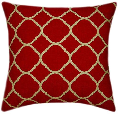 Sunbrella Accord II Crimson Indoor/Outdoor Pillow 14x14 (Small) (Sunbrella Sofa Indoor)