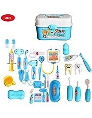 wishing Arztkoffer 32 Teile Arzt Spielzeug Kinderarztkoffer Dentist Doktor Set Medizinische Kit Lernspielzeug Kinder Rollenspiele
