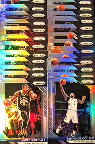 (25) Twenty-Five Count Lot 2018/19 Panini Prizm SILVER Refractor Basketball Cards - Stars and Veterans - All Different!