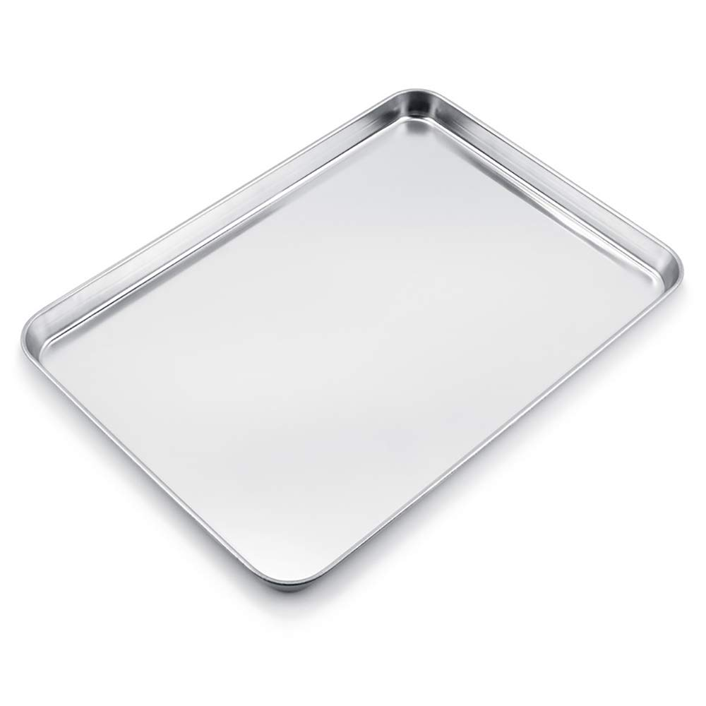 WEZVIX Large Baking Sheet Stainless Steel Cookie Sheet Half Sheet Oven Tray Baking Pan Rectangle Size:19.6 × 13.5 × 1.2 inches, Rust Free & Less Stick, Easy Clean & Dishwasher Safe