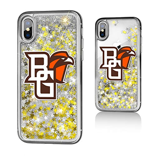Keyscaper KGLGIX-0BOW-INSGN1 Bowling Green State Falcons iPhone X/XS Glitter Case with BGSU Insignia Design (Bowling Apple Green Store)