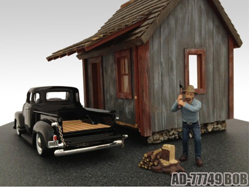 Logger Bob Figurine For 1:24 Diecast Model Cars by American Diorama 77749