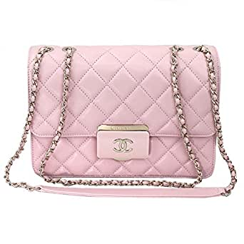 3ac74f15b9f6 www.jcna.com Chanel Pink Sheepskin Leather Chain shoulder Flap bag A93222  Y60545:
