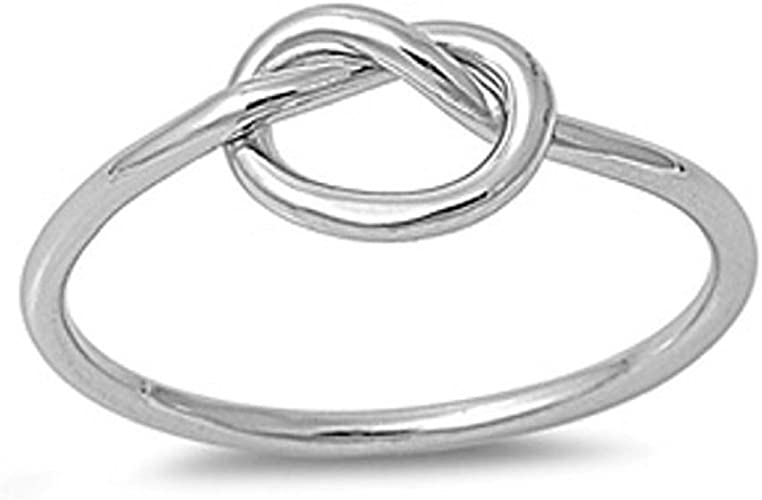 Daesar Sterling Silver Rings Wedding Bands for Women Leaf White Size 6