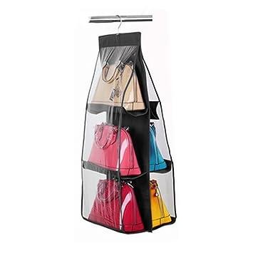 6 Pocket Shelf Bags Purse Handbags Organizer Door Hanging Storage Closet  Hanger