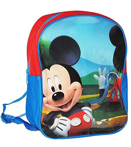 """Kinder Rucksack - """" Disney Mickey Mouse """" - Tasche - wasserfest & beschichtet - Kinderrucksack / groß Kind - Mädchen & Jungen - z.B. für Kindergarten / Vorschule / Schule - Maus Playhouse - Blumen Jun"""
