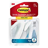 Command BATH17-3ES Large Towel Hooks, Value Pack, 3-Hooks, 3-Large Water-Resistant Strips