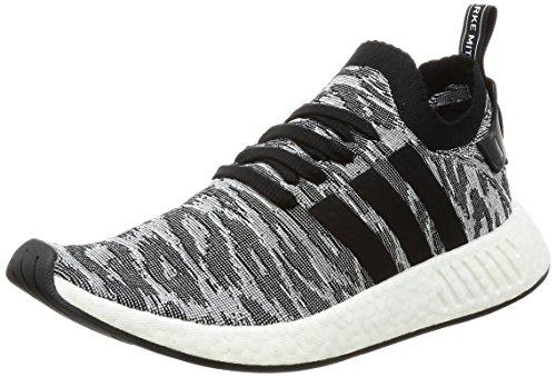 Adidas Nmd_r2 Primeknit Löpartröja Sneaker Svart / Vit / Orange