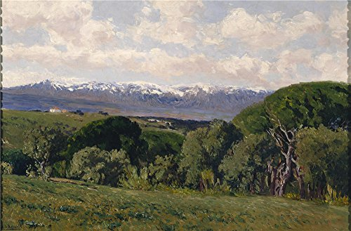 Oil Painting 'Beruete Y Moret Aureliano De View Of The Guadarrama From El Plantio De Infantes 1911' 12 x 18 inch / 30 x 46 cm , on High Definition - Dc Washington Shopping Outlet