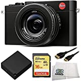 Leica D-LUX (Typ 109) Digital Camera with 16GB Extreme UHS-I U3 SDHC Memory Card (Class 10) + Replacement DMW-BLG10 Battery + 5 Foot Mini HDMI Cable & Microfiber Cleaning Cloth