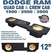 Dodge Ram Quad cab & Crew Cab 12 Subwoofer Enclosure