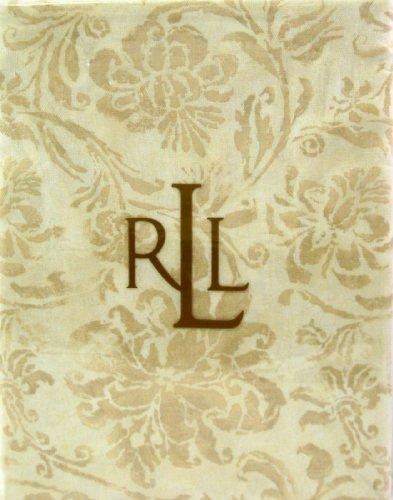 """Ralph Lauren Bluff Point Floral/tan Tablecloth - 60"""" X 84"""""""