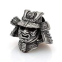 Paracord Bead Samurai Helmet - Metal DIY Paracord Beads Charms EDC Accessories for Custom Bracelet Knife Lanyard Zipper Pull - Handmade Paracord Supplies Crafts