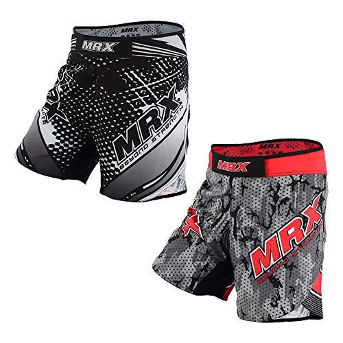 MRX Mens MMA Fight Shorts Grappling UFC Cage BJJ Fighting Sports Trunk Active Boxing Kickboxing Muay Thai