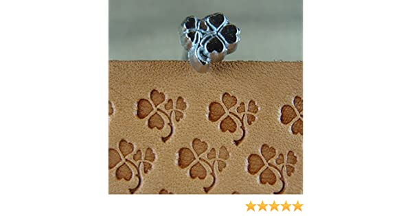Leather Stamping Tool Craft Japan #E377 Clover Leaf Stamp